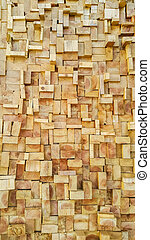 Old Wood slice square texture background