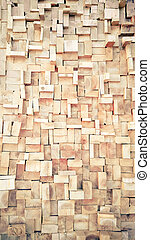 Vintage style Old Wood slice square texture background