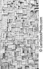 Black and white Old Wood slice square texture background