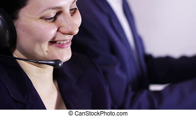 Call Center Operator Talking With Client