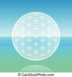 Flower Of Life Calm Ocean
