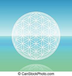 Flower Of Life Calm Ocean