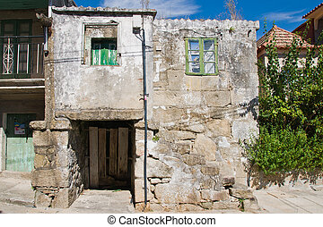 Granary in Combarro - old house in Combarro, Ponetevedra,...