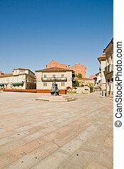 Pontevedra in Galicia, Spain - square in Pontevedra in...