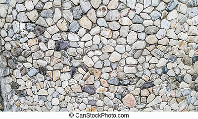 river rock wall texture background
