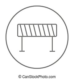 Road barrier line icon. - Road barrier line icon for web,...
