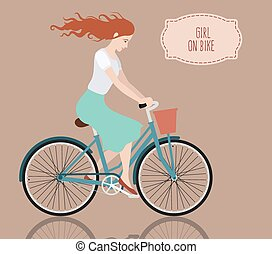 Girl on bike