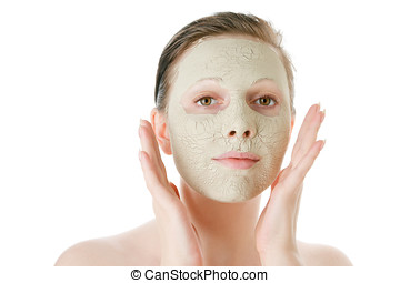 Beautiful woman with facial mask