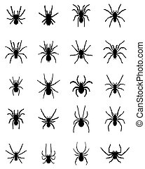 silhouettes of  spiders