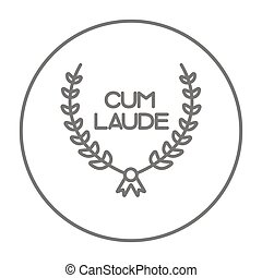 Laurel wreath line icon.