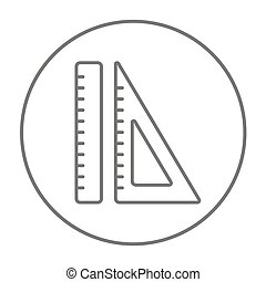 Rulers line icon.