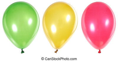 Inflatable Balloons - Inflatable balloons photo on the white...