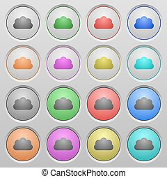 Cloud plastic sunk buttons - Set of cloud plastic sunk...