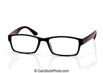 plastic and wooden rimmed eyeglasses