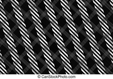 Black and White Computer Generated Abstract Geometric...