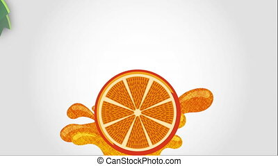 Orange icon design, Video Animation HD1080