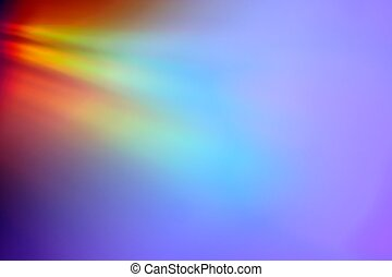 Abstract CD reflection background - Closeup of rainbow...