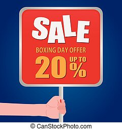 Boxing Day - Abstract boxing day label on a special...
