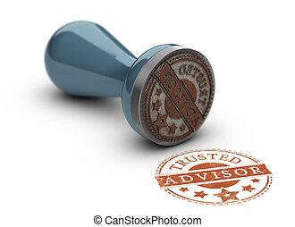 Trusted Advisor Concept - Trusted avisor rubber stamp over...