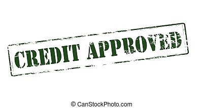 Credit approved - Rubber stamp with text credit approved...
