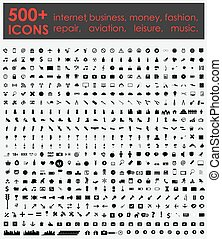 More 500 Icons: Internet, Business, Money, Fashion, Repair,...