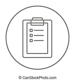 Medical report line icon - Medical report line icon for web,...