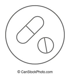 Pills line icon - Pills line icon for web, mobile and...