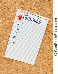 Elaboración, su, metas