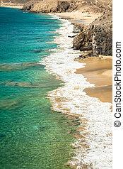 Papagayo beach, Lanzarote. Canary Island.