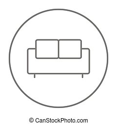 Sofa line icon. - Sofa line icon for web, mobile and...