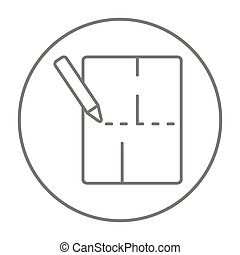 Layout of the house line icon. - Layout of the house line...