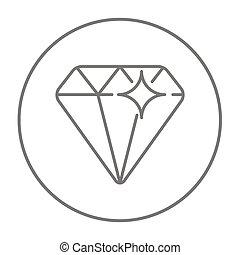 Diamond line icon - Diamond line icon for web, mobile and...