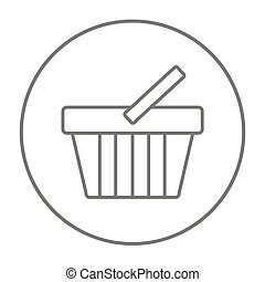 Shopping basket line icon - Shopping basket line icon for...