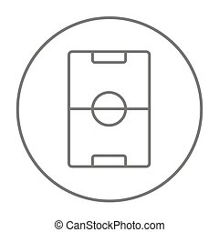 Stadium layout line icon - Stadium layout line icon for web,...