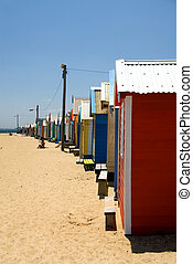 Beach Huts on Brighton Beach, Melbourne, Victoria, Australia