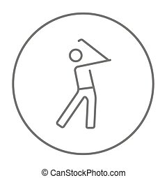 Golfer line icon. - Golfer line icon for web, mobile and...