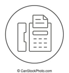 Fax machine line icon. - Fax machine line icon for web,...