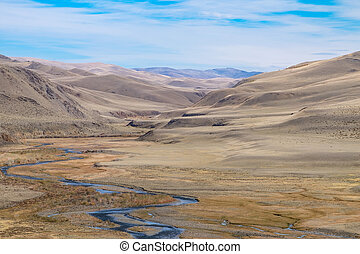 Fluvial terrace in Central Asia in the Altai The result of...
