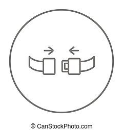 Seat belt line icon - Seat belt line icon for web, mobile...