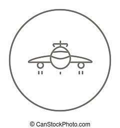 Airplane line icon - Airplane line icon for web, mobile and...