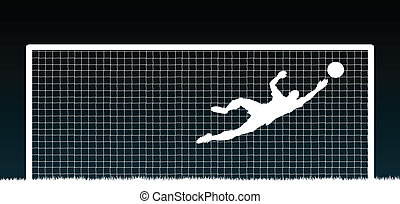 Goalkeeper - Editable vector illustration of a soccer...