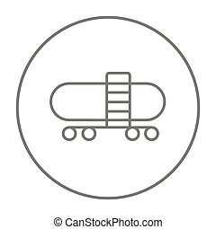 Railway cistern line icon. - Railway cistern line icon for...