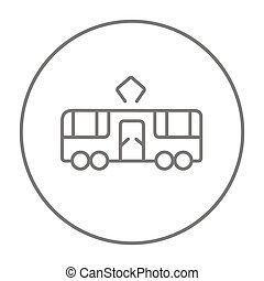 Tram line icon - Tram line icon for web, mobile and...