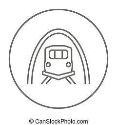 Railway tunnel line icon - Railway tunnel line icon for web,...