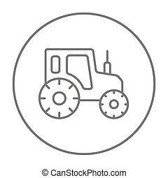 Tractor line icon - Tractor line icon for web, mobile and...