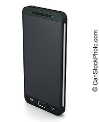 Touch screen smartphone - Three buttons black touch screen...