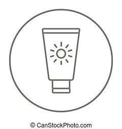 Sunscreen line icon - Sunscreen line icon for web, mobile...