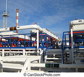 Steel service platform and stairs Equipment refinery