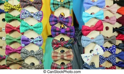 The collection of colorful bow-ties