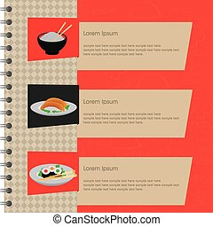Japanese Food - abstract japanese food background with some...
